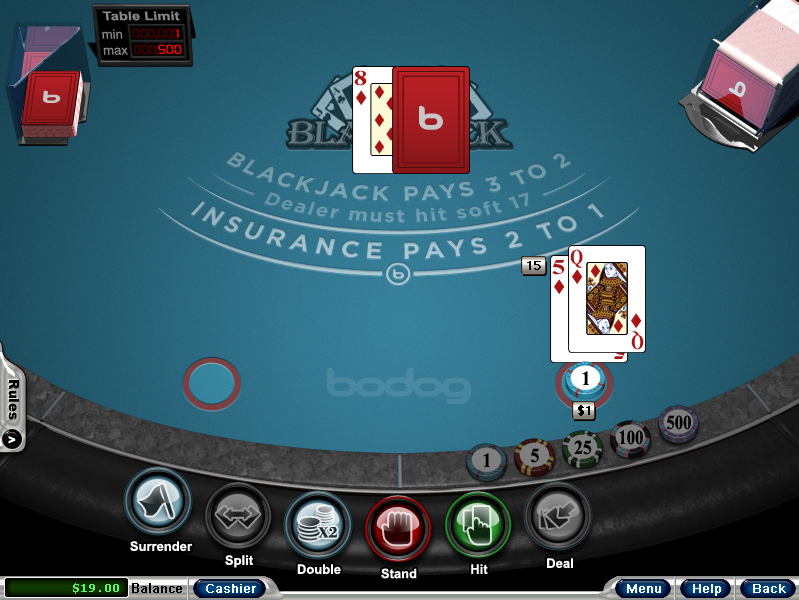 Bodog Casino Blackjack